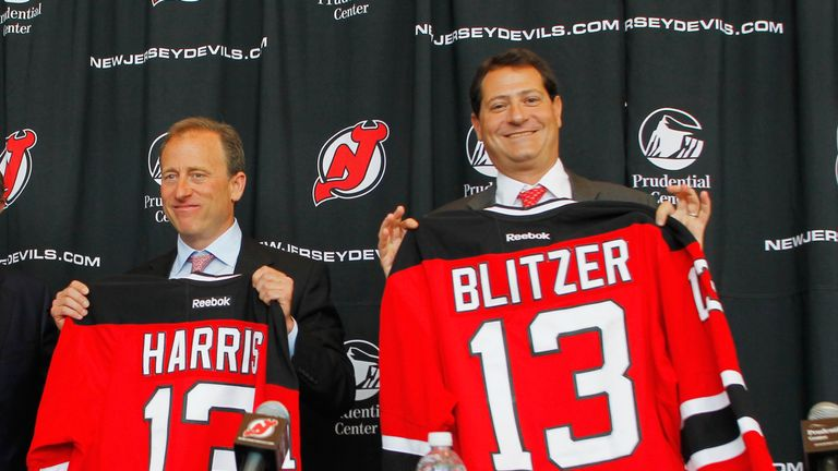 Josh Harris and David Blitzer pictured in 2013 when they were annouced as co-owners of the New Jersey Devils