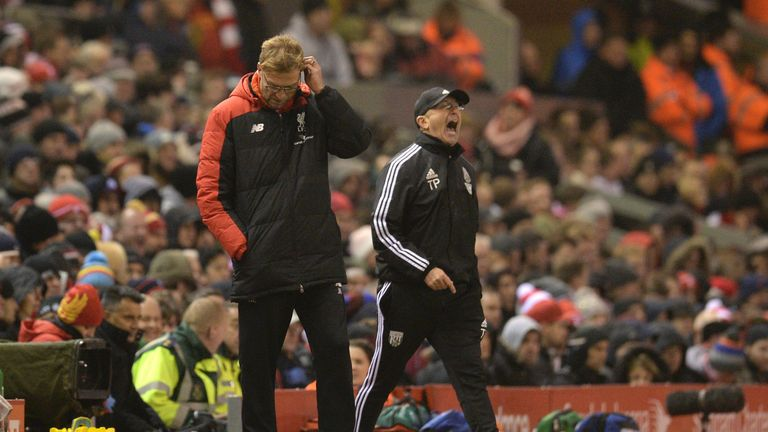 Klopp found Tony Pulis's West Brom team a tough opponent to deal with