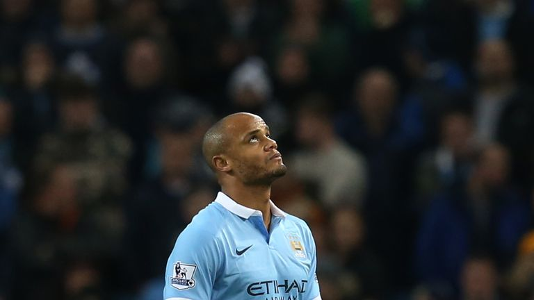 Manchester City skipper Vincent Kompany is still out injured