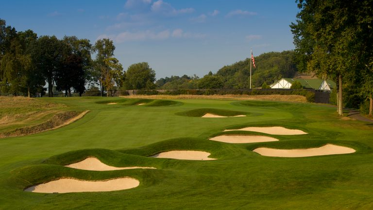 Heavy bunkering and thick rough are a feature at Oakmont