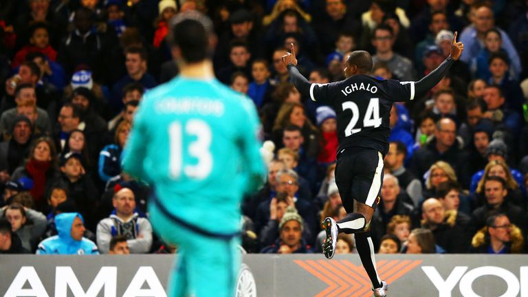 The prolific Odion Ighalo put Watford 2-1 in front at Stamford Bridge