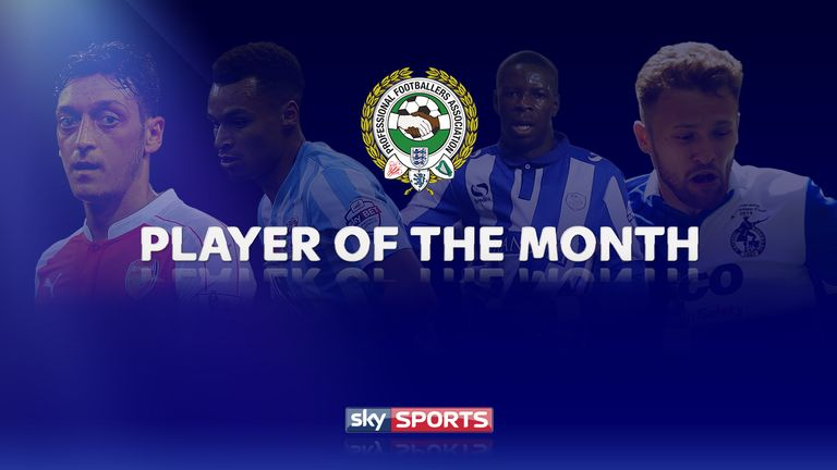 pfa fans player of the month awards winners for november have been announced