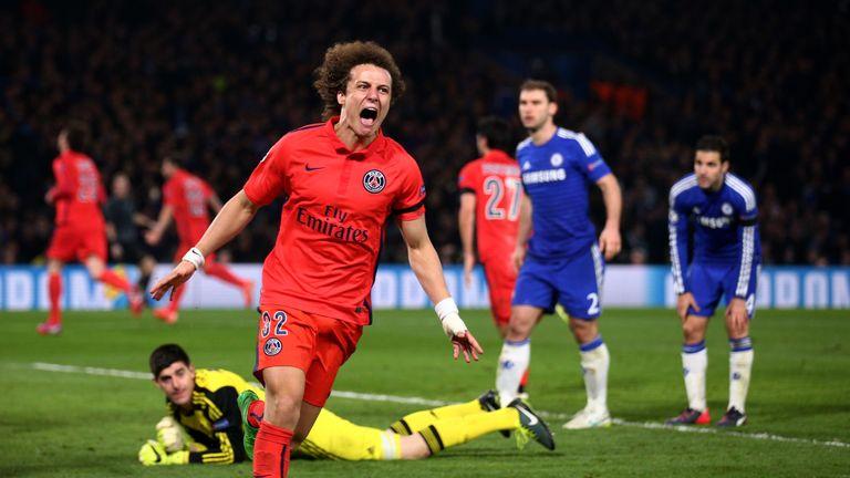 PSG defender David Luiz will face his former club