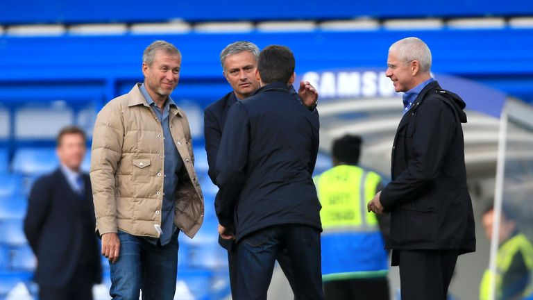 Roman Abramovich (left) is looking to appoint a permanent successor to Jose Mourinho