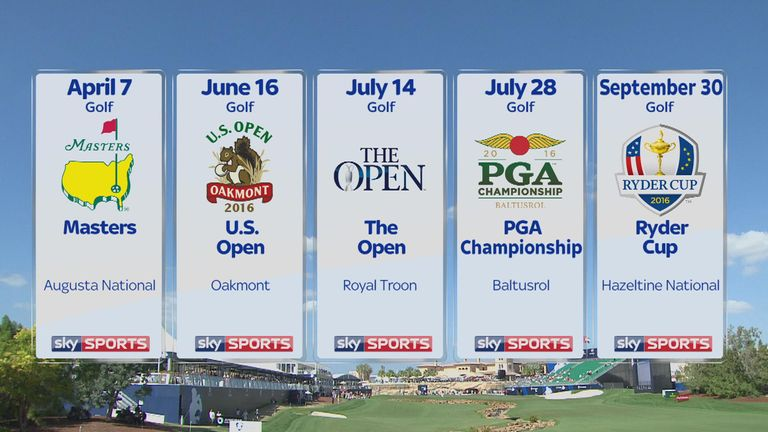 There's plenty of live golf to look forward to on Sky Sports during 2016
