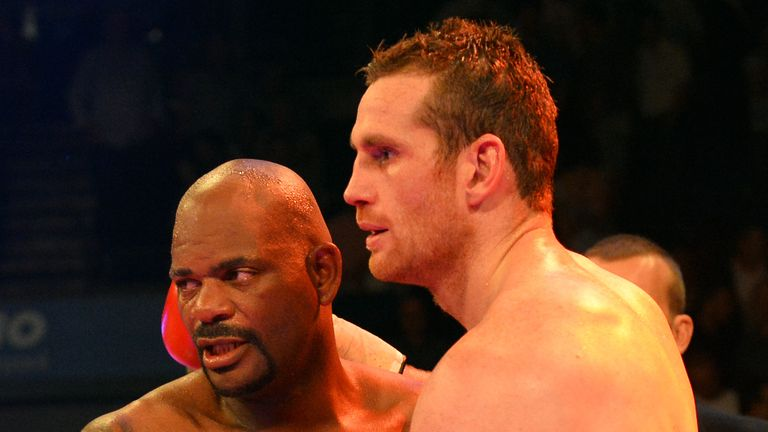 Tony Thompson (L) also failed a drugs test after beating Price