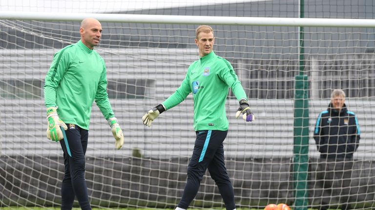 Could Willy Caballero (left) replace Joe Hart?