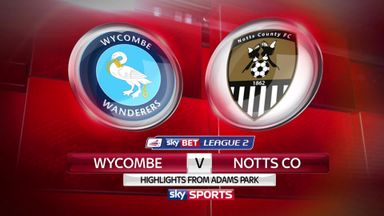 Wycombe 2-2 Notts County