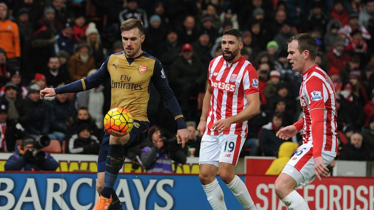 Ramsey played the full 90 minutes as Arsenal secured a point at Stoke
