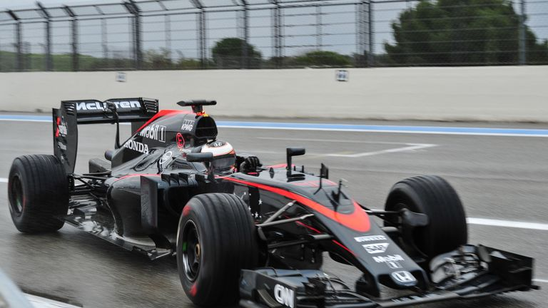 Formula 1 Back On Track For Pirelli Wet Weather Tyre Test