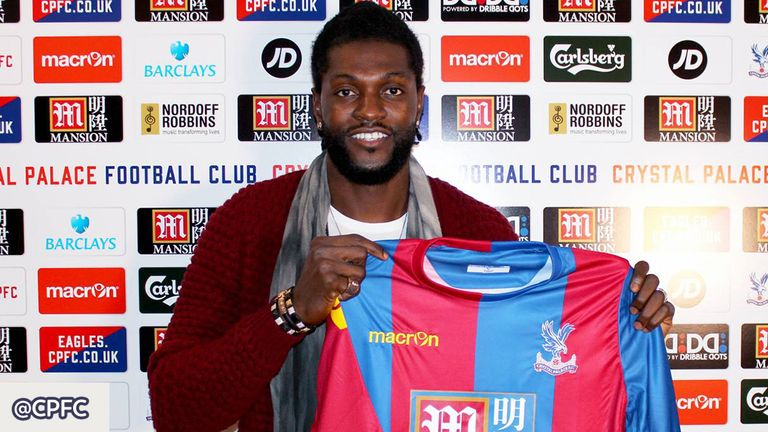 Emmanuel Adebayor has joined Crystal Palace