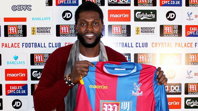 Emmanuel Adebayor signed for Crystal Palace