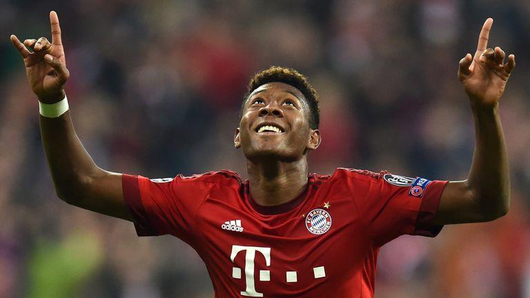 Bayern Munich's David Alaba was a popular choice