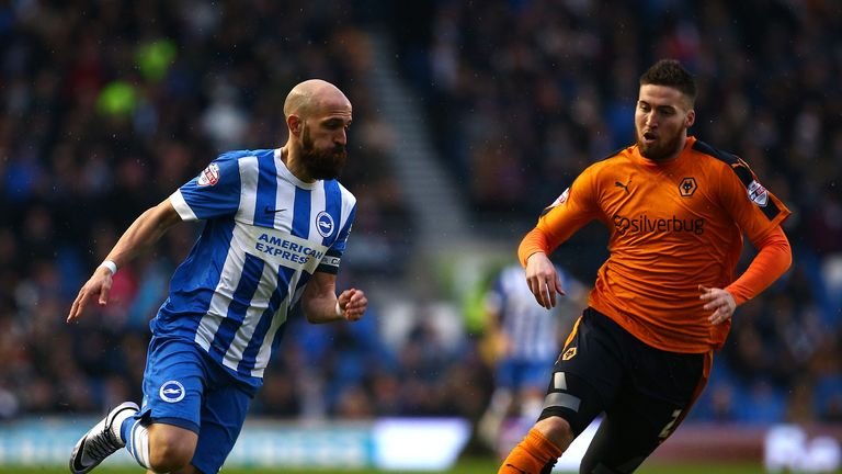 Bruno Saltor (left) looks to get away from Matt Doherty