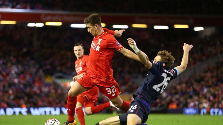 Cameron Brannagan looked lively in the Liverpool midfield against West Ham