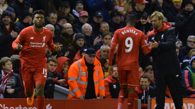 Daniel Sturridge (left) and Christian Benteke have not been first-team regulars