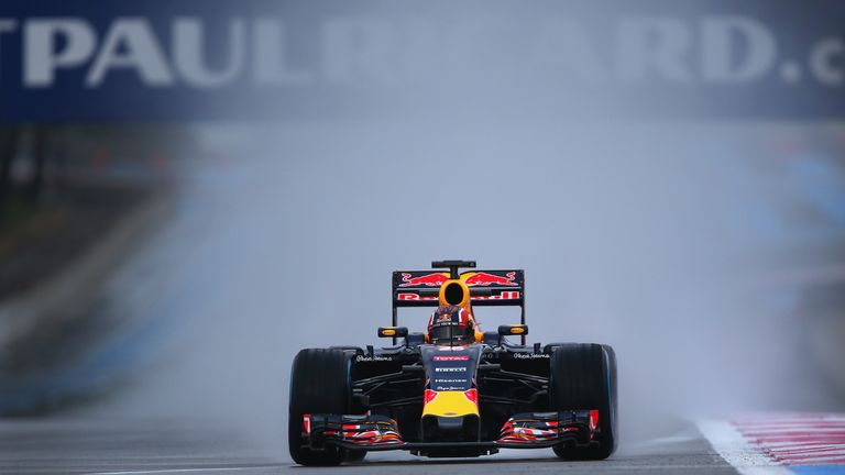 Daniil Kvyat took over the Red Bull RB11 from Daniel Ricciardo