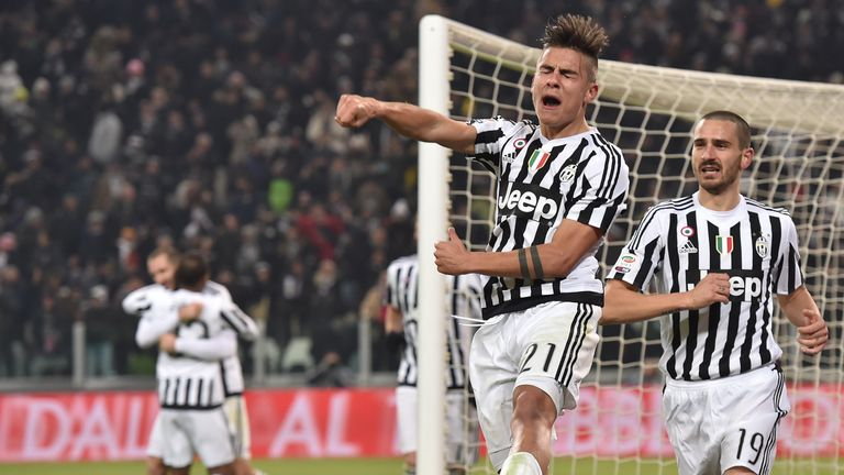 Dybala has 17 goals in all competitions for Juventus this season