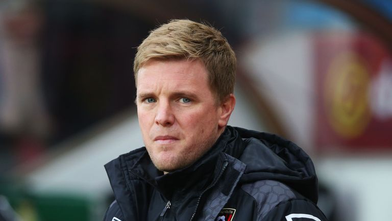 Eddie Howe's Bournemouth are in action against Watford