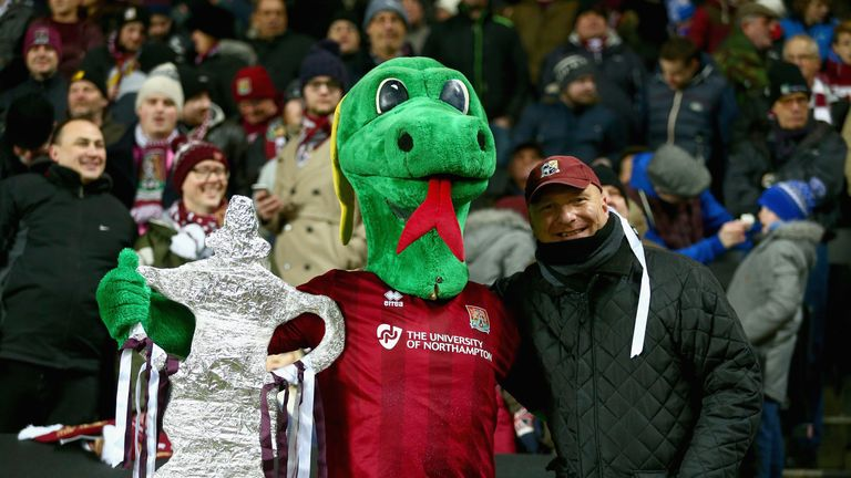 Around 7,000 Northampton Town made the short trip to Stadiummk for the FA Cup third-round replay