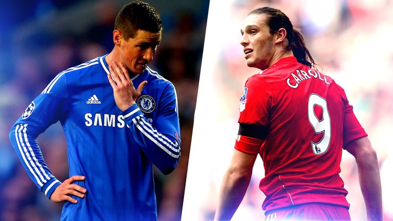 Fernando Torres and Andy Carroll struggled after big-money moves