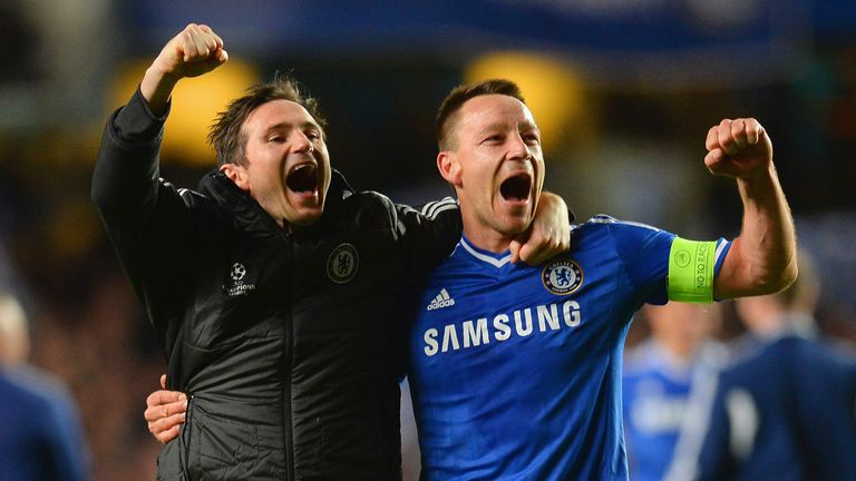 Could Terry join former team-mates Frank Lampard (L) and Ashley Cole in the MLS?