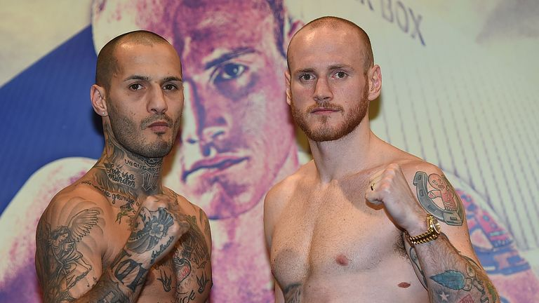 George Groves (R) returns to action against Andrea Di Luisa