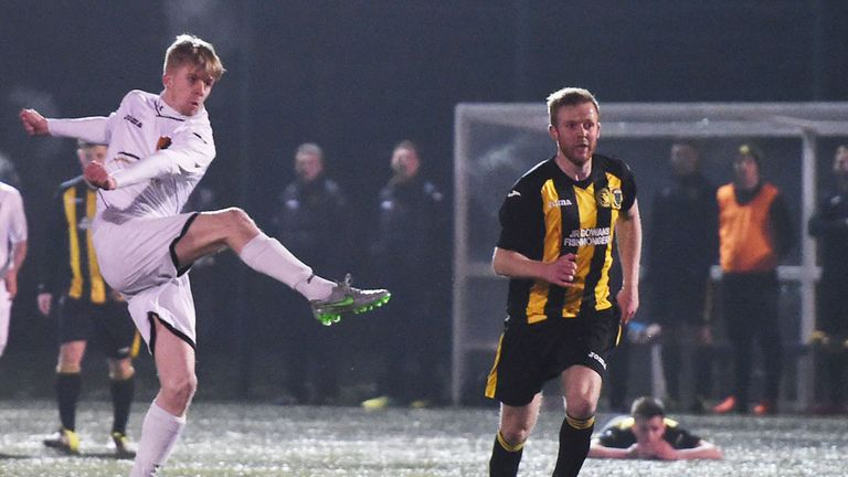 Jack Smith gives East Kilbride the lead against Lothian Thistle Hutchison Vale