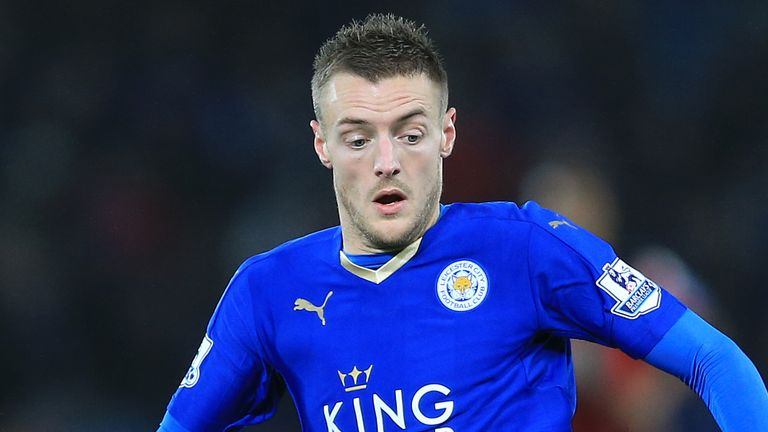 Leicester City's Jamie Vardy is set to take on Spurs on Wednesday