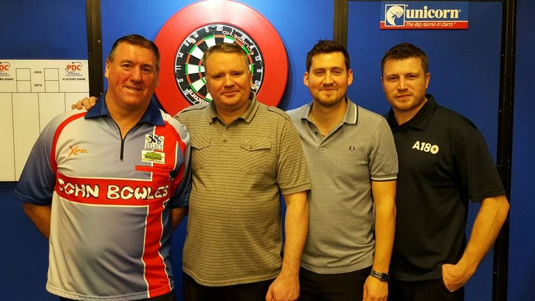 John Bowles, Andy Parson, Ricky Williams and Simon Stevenson earned places on PDC circuit