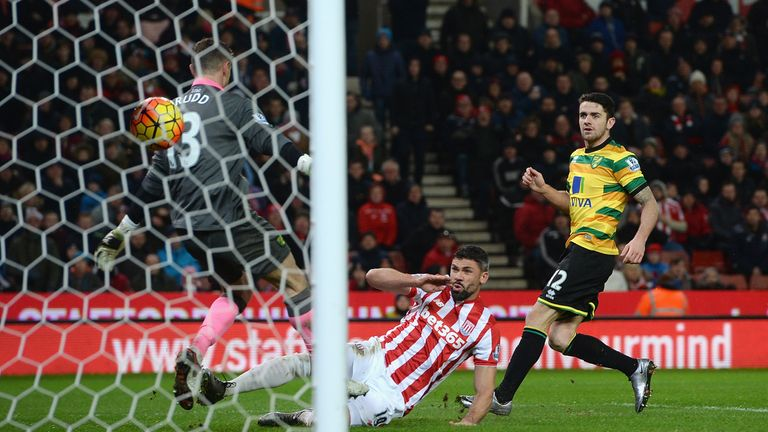 Jonathan Walters scored Stoke's first goal three minutes into the second half