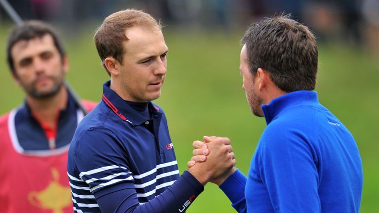 Spieth was three up on Graeme McDowell before slipping to defeat in the opening singles match