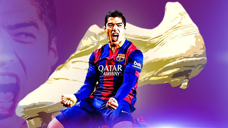 Luis Suarez has won the European Golden Shoe for the second time in his career