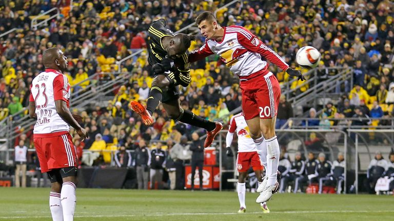 Matt Miazga (right) has been a rock in the New York Red Bulls defence