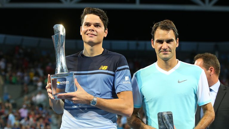 Raonic claimed the title after a straight sets win over Roger Federer