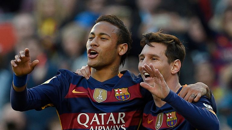 Neymar impressed in Messi's absence in the latter stages of 2015