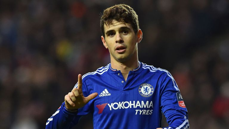 Chelsea midfielder Oscar has travelled with the squad