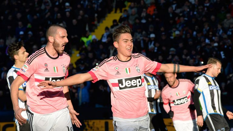 Dybala was linked with several English clubs before moving to Juventus
