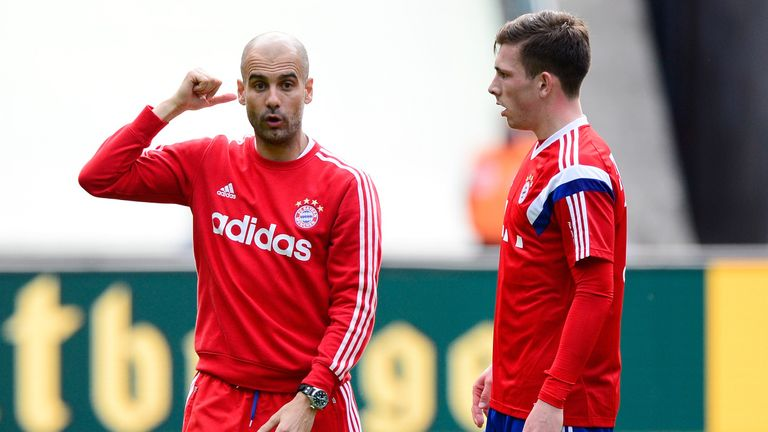 Guardiola took young Danish midfielder Pierre Hojbjerg under his wing in his first season at Bayern