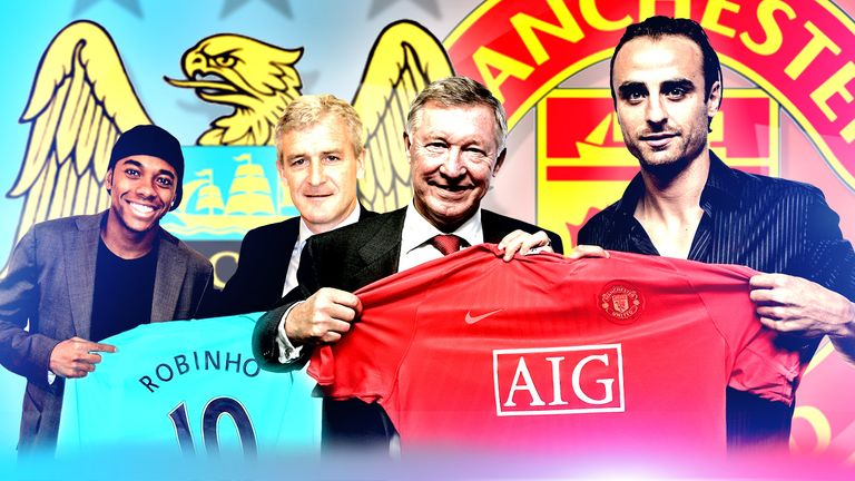 On deadline day in 2008, Man Utd signed Dimitar Berbatov and Robinho joined City
