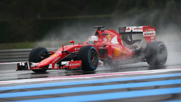 Vettel topped the times for Ferrari