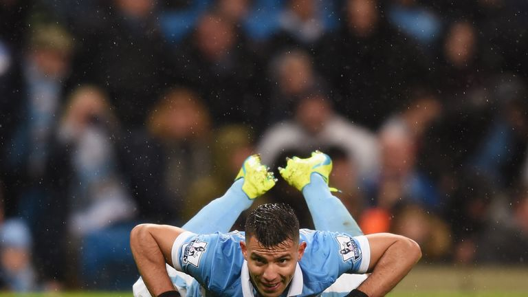Aguero reacts to another missed City chance