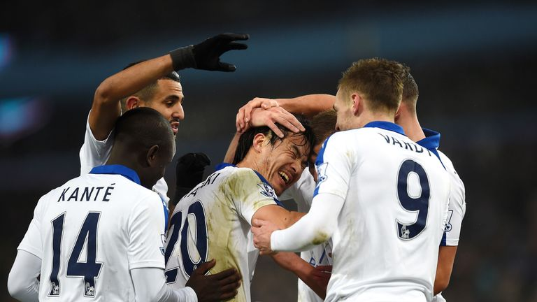 Shinji Okazaki put Leicester in front at Villa Park, but the Foxes were pegged back