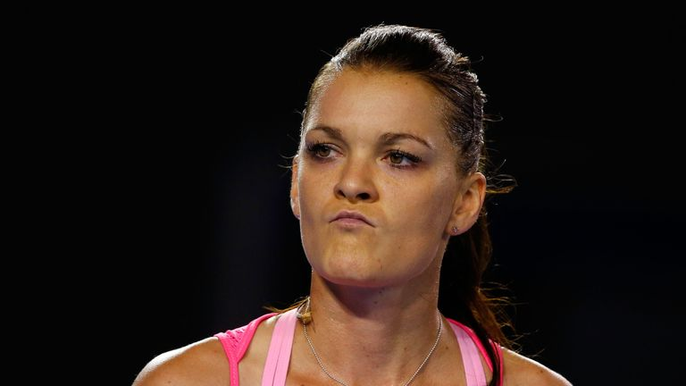 Agnieszka Radwanska could not stay with Serena Williams