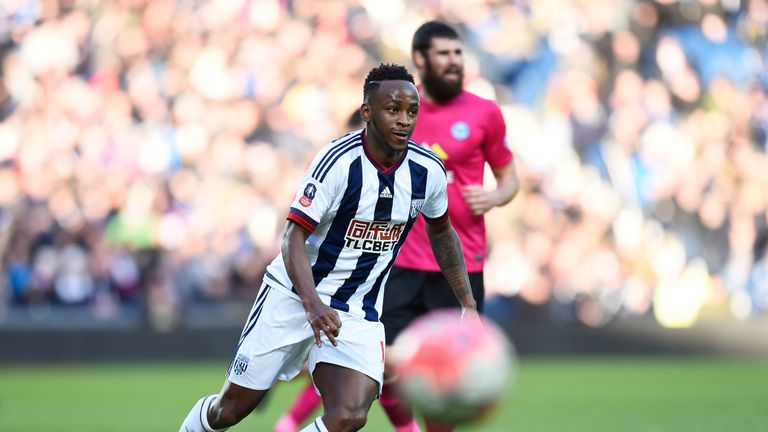 Saido Berahino in FA Cup action for West Brom