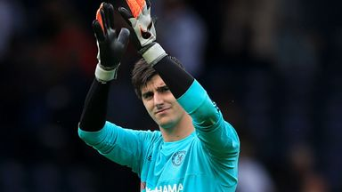 Chelsea goalkeeper Thibaut Courtois says he is not interested in a move away from the club