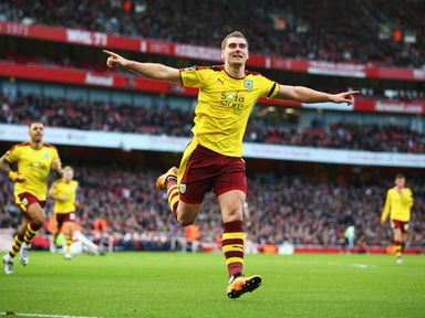 Sam Vokes of Burnley  was on target once more