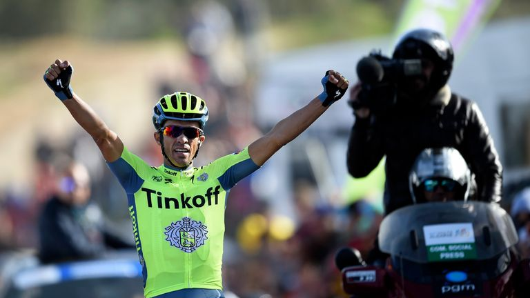 Alberto Contador won a stage of the Volta ao Algarve but could only finish third