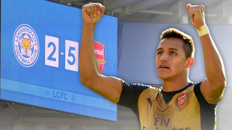 Alexis Sanchez scored his first Arsenal hat-trick against Leicester