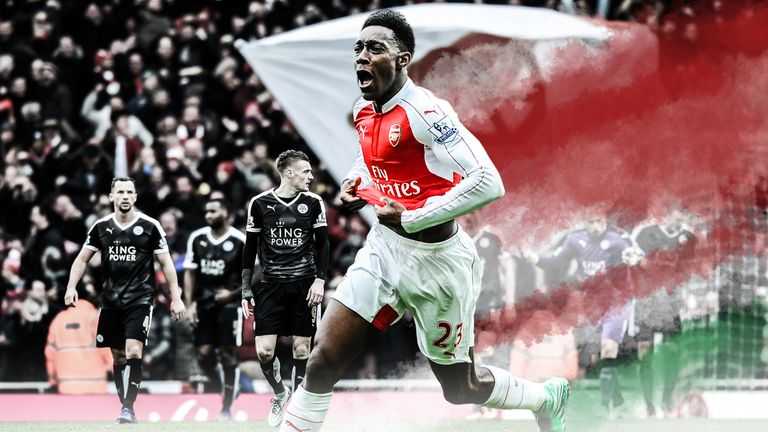 Danny Welbeck scored Arsenal's winning goal in the dying seconds
